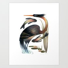 The Heron Art Print