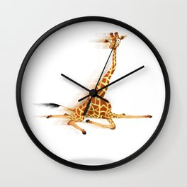 Running Giraffe / Jirafa Corriendo Wall Clock