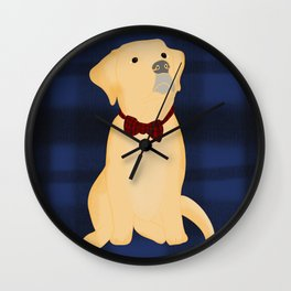 Best Friend Labrador Puppy In A Bow Tie Wall Clock