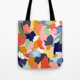 97a1464ae Bright Paint Blobs Tote Bag