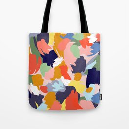 Bright Paint Blobs Tote Bag