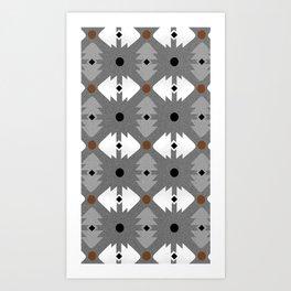 Modern Desert Fox Southwest Pattern Art Print