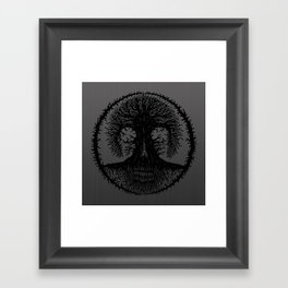 romkalah, black Framed Art Print