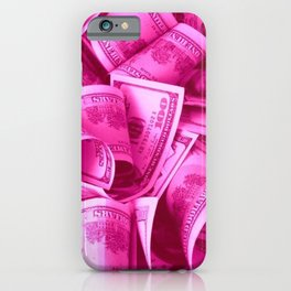 Pink Barbie Benjamins iPhone Case