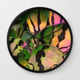 Vegetarian Zebra Wall Clock