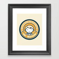 Cute John Watson - Orange Framed Art Print