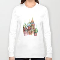 russia Long Sleeve T-shirts featuring Russia by Lam Designs