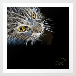 Cat Abstract Art Print