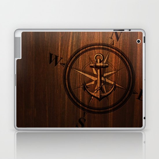 Wooden Anchor Laptop & iPad Skin