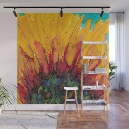 Flaming Flower Wall Mural