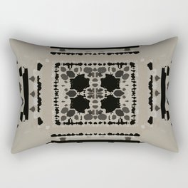Beige and Black Perspective Rectangular Pillow