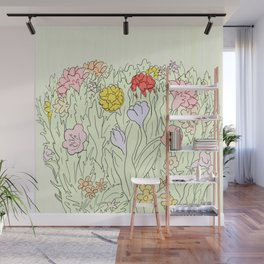 Blooms Wall Mural