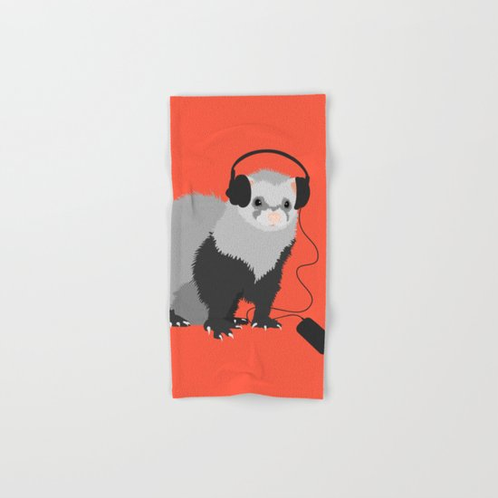 Music Loving Ferret Hand & Bath Towel