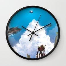 Flying Castle Wall Clock