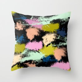 Dabs of paint Throw Pillow