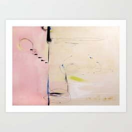 No. 04 Pink Abstract Painting  Art Print