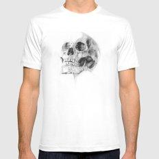 Skull 52 MEDIUM Mens Fitted Tee White