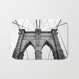 new york #3 - Brooklyn Bridge Bath Mat