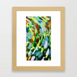 Mexican Rainbow Glass Framed Art Print