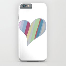 Big Hearted, Big Love Heart-shaped Colorful Stripe by Christie Olstad iPhone Case