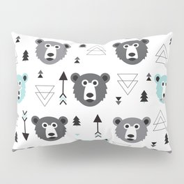 Geometric grizzly bear and arrows Pillow Sham