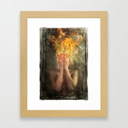 Perish the Thought Framed Art Print