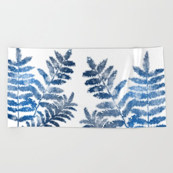 Twighlight Leaves Beach Towel
