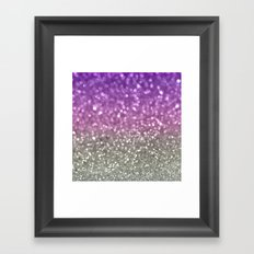 Lilac and Gray Framed Art Print