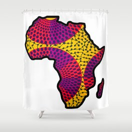 Purple and Pink Africa Map Shower Curtain
