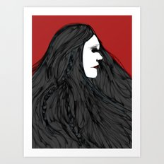 March of The Black Queen Art Print