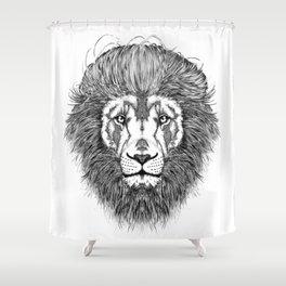 Pompadour Leo Shower Curtain