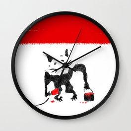 Rat Street Art Wall Clock
