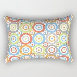 Abstract Circles Pattern Color Mix & Greys Rectangular Pillow