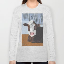 Cow In The Winter Long Sleeve T-shirt