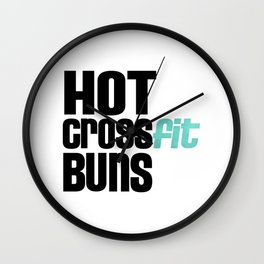 Hot Crossfit Buns Wall Clock