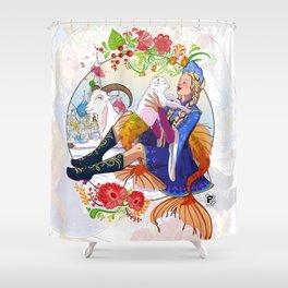Capricorn zodiac sign Shower Curtain