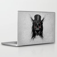 hat Laptop & iPad Skins featuring Skull Hat by Fathi