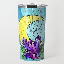 Mystical Crystals and Moon Travel Mug