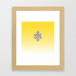 Limitless Infinity 2 (yellow) Framed Art Print