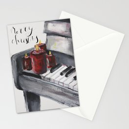 Piano Christmas Card Stationery Cards