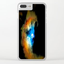 Moon Shadow Clear iPhone Case