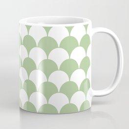 Fan Pattern 321 Sage Green Coffee Mug
