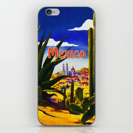 Vintage Mexico Village Travel iPhone Skin