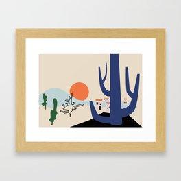 Morning in the valley Framed Art Print