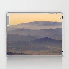 Sunset at the foggy mountains Laptop & iPad Skin