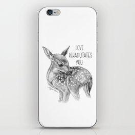 Deer Illustration By Magda Opoka   Animal   Black and White   bw   black-and-white   Animals iPhone Skin