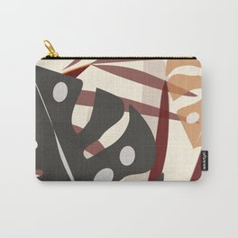 Monstera Black Carry-All Pouch