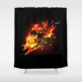 The Dragon Slayer Shower Curtain