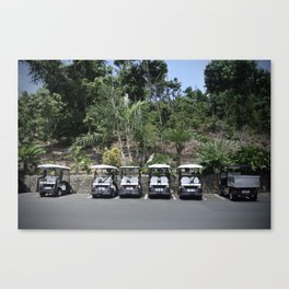 Golf buggys Canvas Print