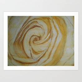 Gold Rose Art Print